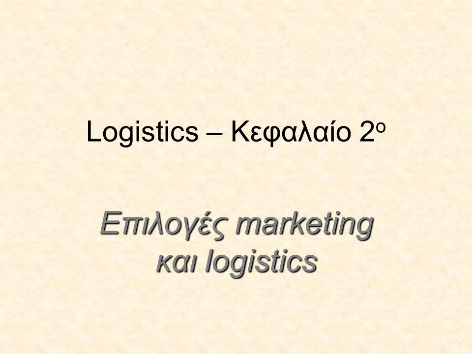 Επιλογές marketing και logistics