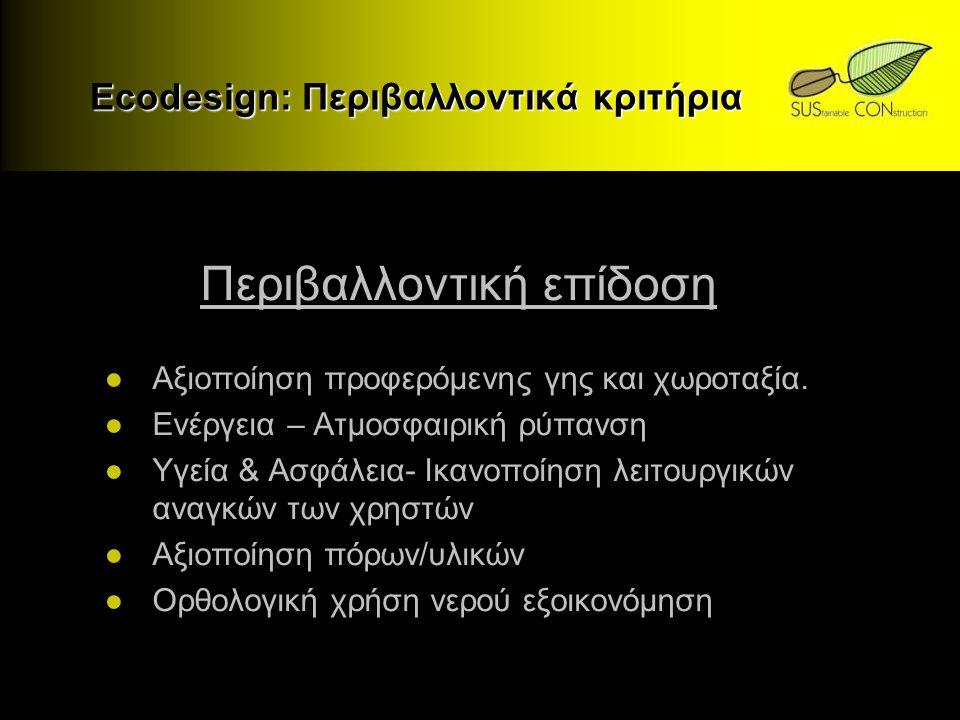 Ecodesign: Περιβαλλοντικά κριτήρια