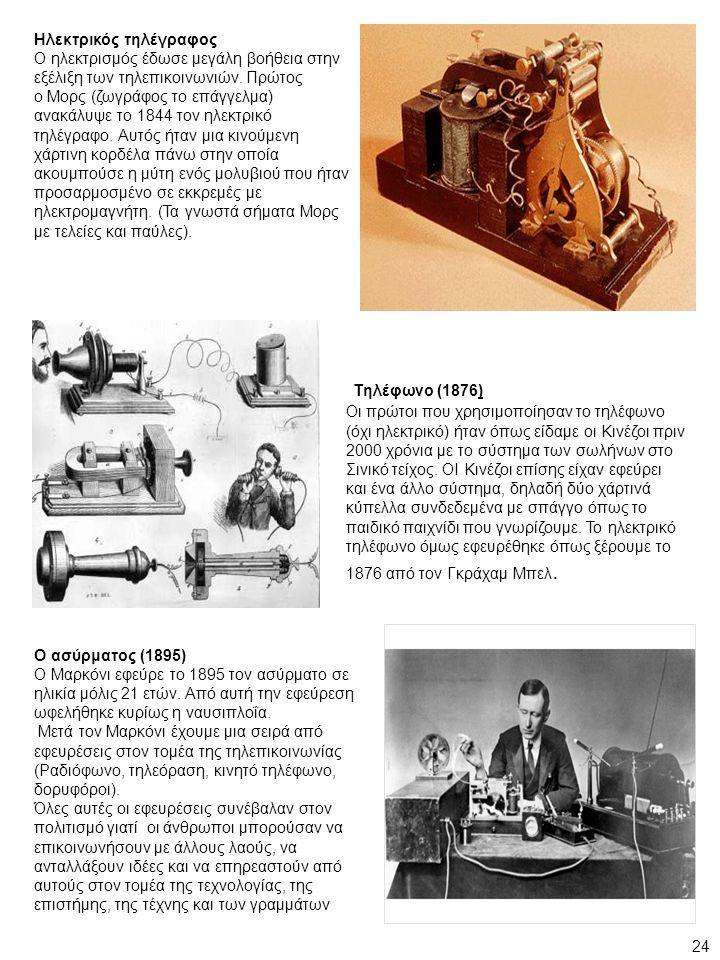 Τηλέφωνο (1876) Ηλεκτρικός τηλέγραφος