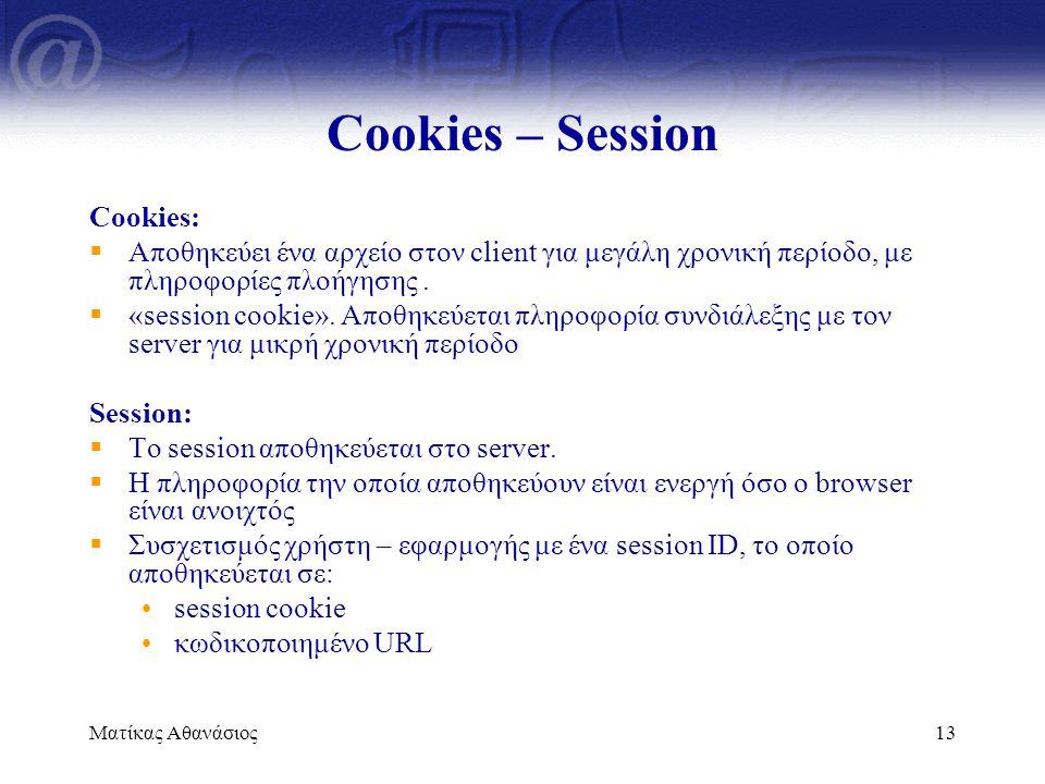 Cookies – Session Cookies: