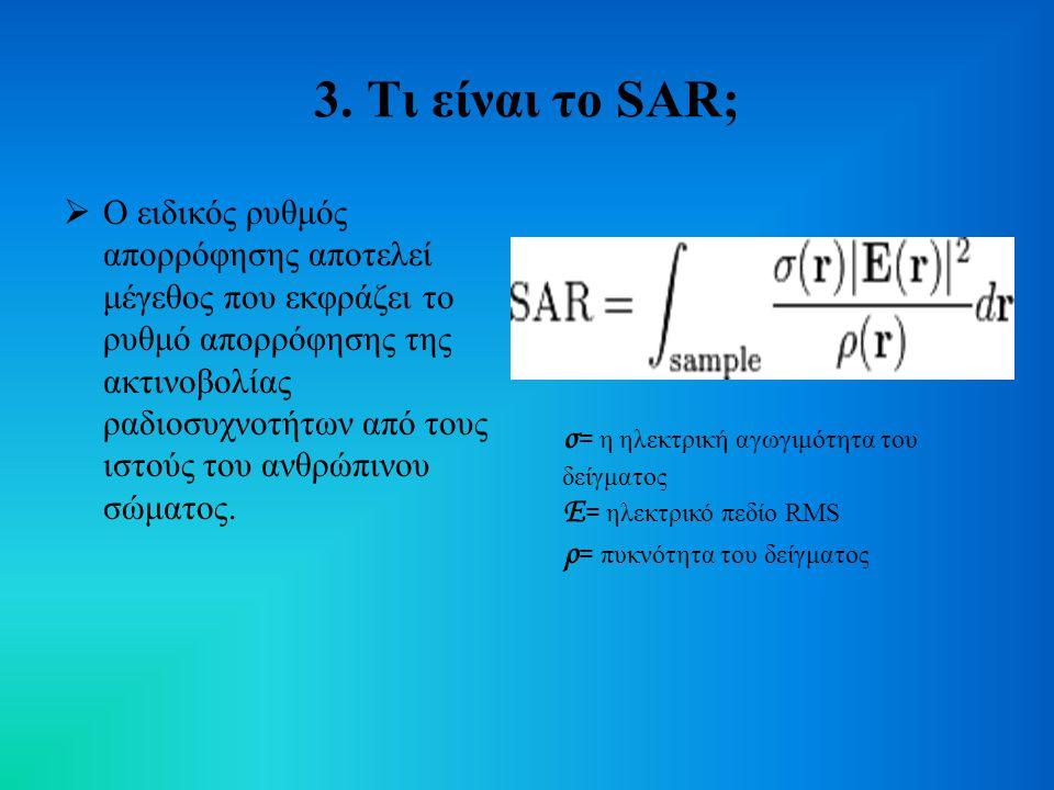 3. Τι είναι το SAR;