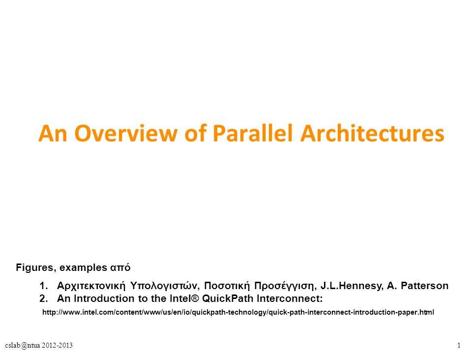 An Overview of Parallel Architectures