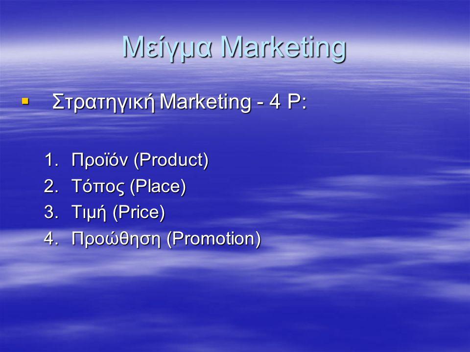 Μείγμα Marketing Στρατηγική Marketing - 4 P: Προϊόν (Product)