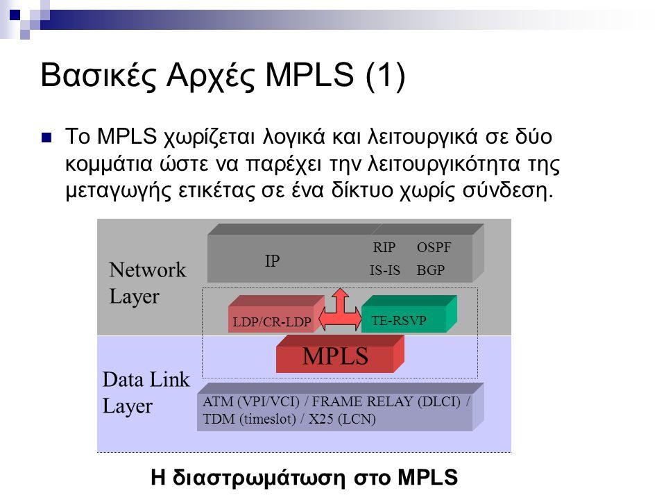 Η διαστρωμάτωση στο MPLS