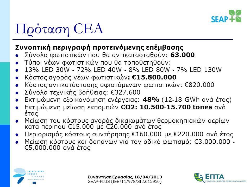Πρόταση CEA Συνοπτική περιγραφή προτεινόμενης επέμβασης
