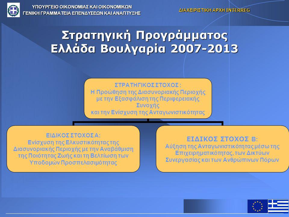 Στρατηγική Προγράμματος Ελλάδα Βουλγαρία 2007-2013