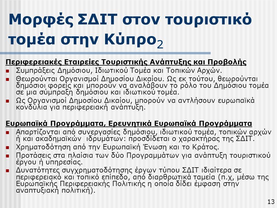 Μορφές ΣΔΙΤ στον τουριστικό τομέα στην Κύπρο2