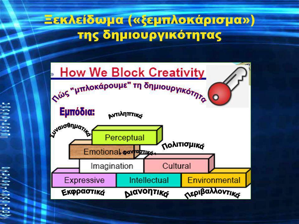 Ξεκλείδωμα («ξεμπλοκάρισμα») της δημιουργικότητας