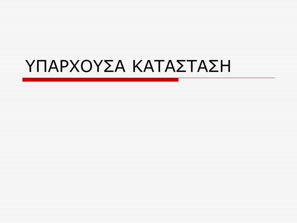 ΥΠΑΡΧΟΥΣΑ ΚΑΤΑΣΤΑΣΗ