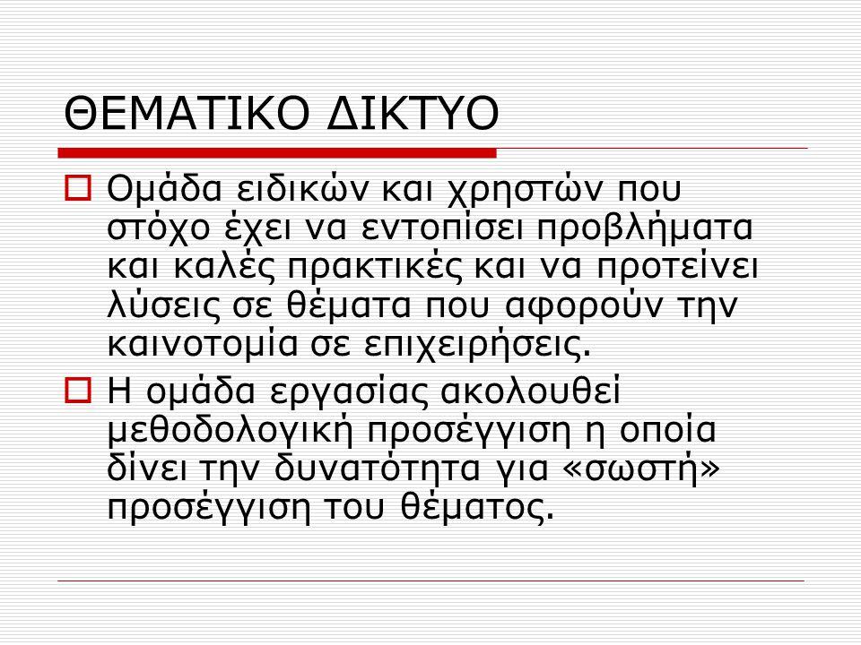 ΘΕΜΑΤΙΚΟ ΔΙΚΤΥΟ