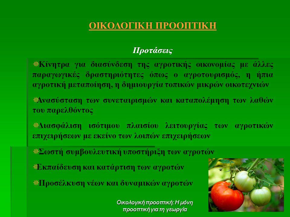 Οικολογική προοπτική: Η μόνη προοπτική για τη γεωργία