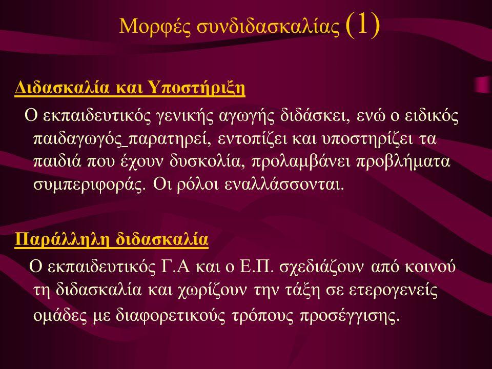 Μορφές συνδιδασκαλίας (1)