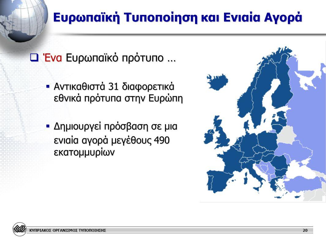 Ευρωπαϊκή Τυποποίηση και Ενιαία Αγορά