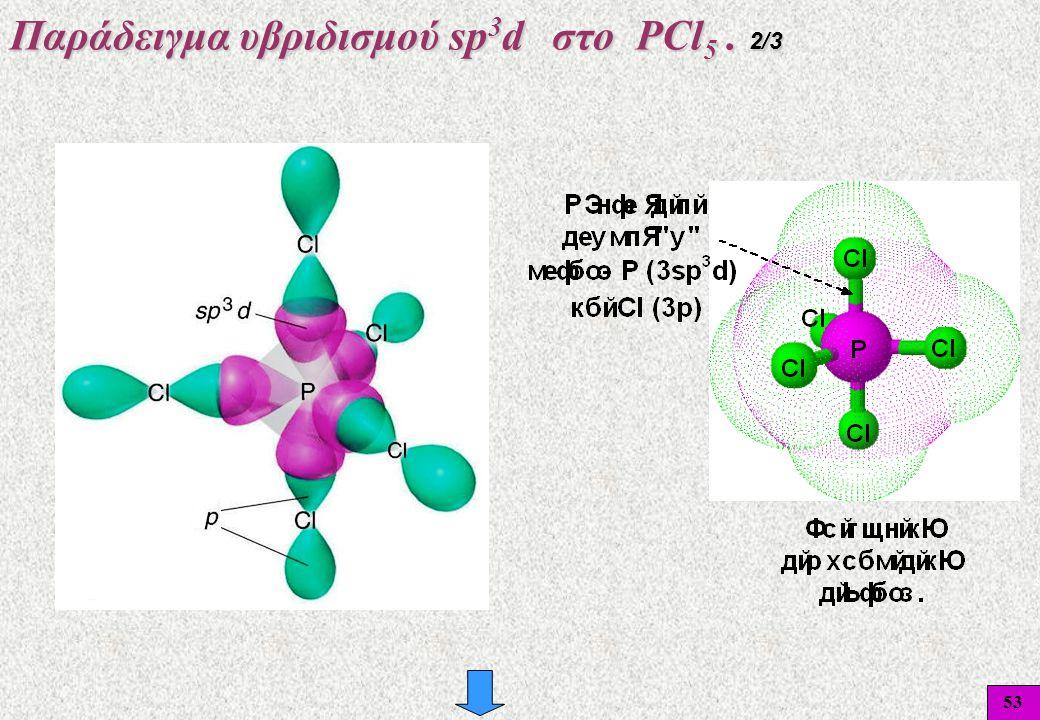 Παράδειγμα υβριδισμού sp3d στο PCl5 . 2/3