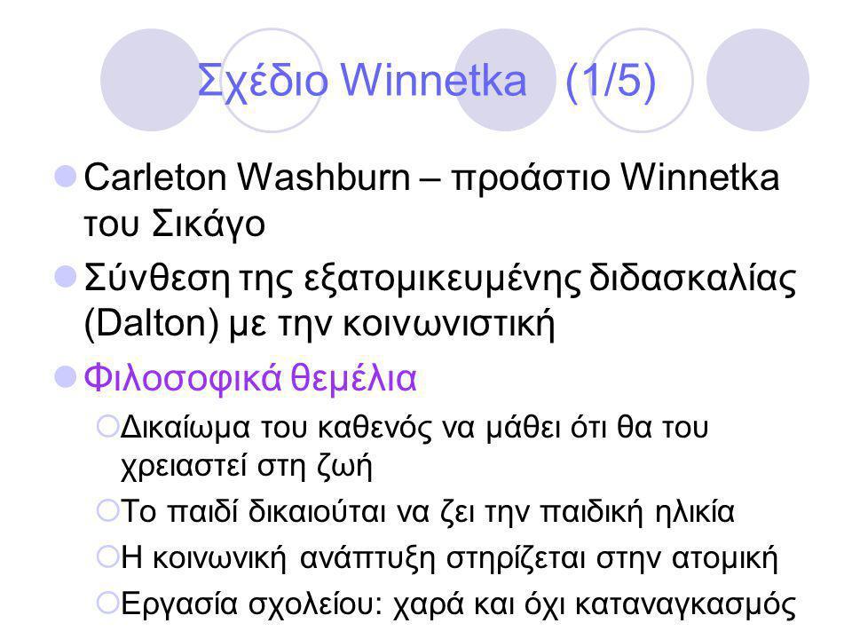 Σχέδιο Winnetka (1/5) Carleton Washburn – προάστιο Winnetka του Σικάγο