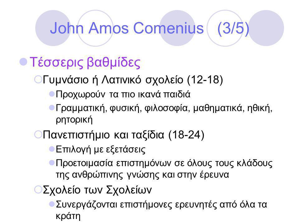 John Amos Comenius (3/5) Τέσσερις βαθμίδες