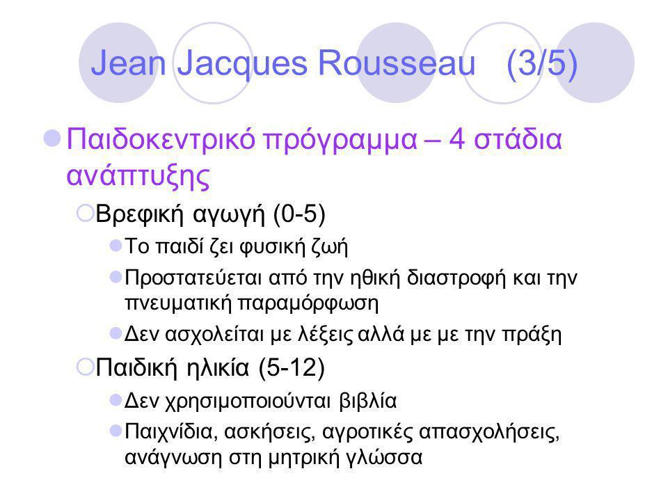 Jean Jacques Rousseau (3/5)