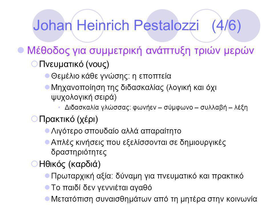 Johan Heinrich Pestalozzi (4/6)