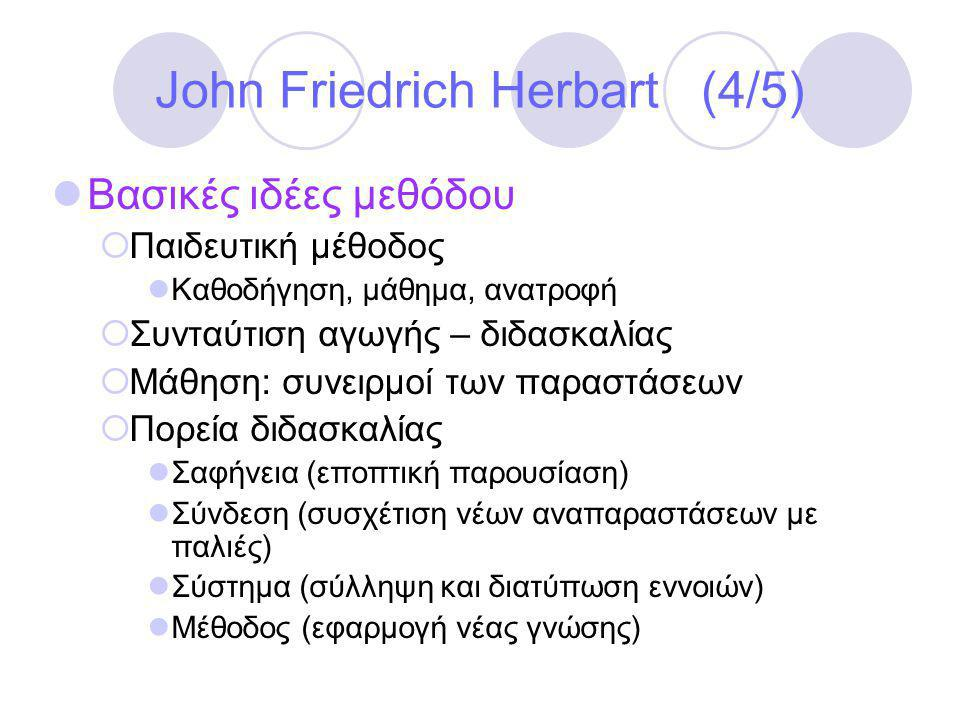 John Friedrich Herbart (4/5)
