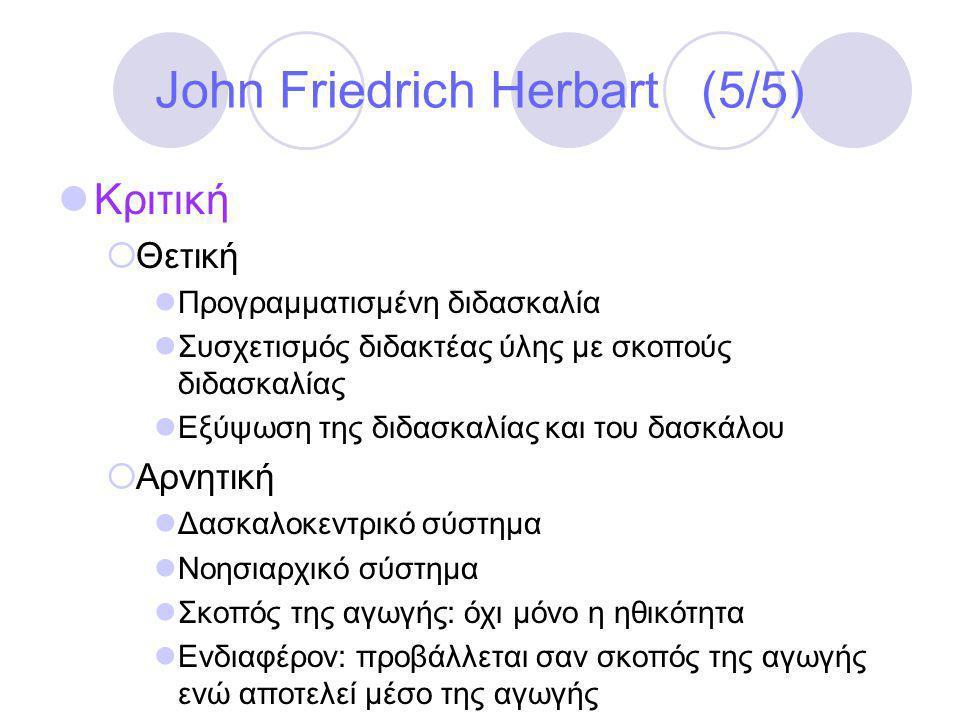 John Friedrich Herbart (5/5)