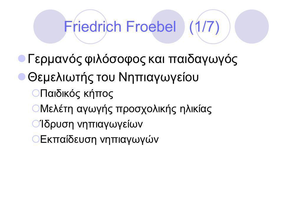 Friedrich Froebel (1/7) Γερμανός φιλόσοφος και παιδαγωγός