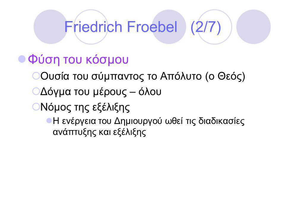 Friedrich Froebel (2/7) Φύση του κόσμου