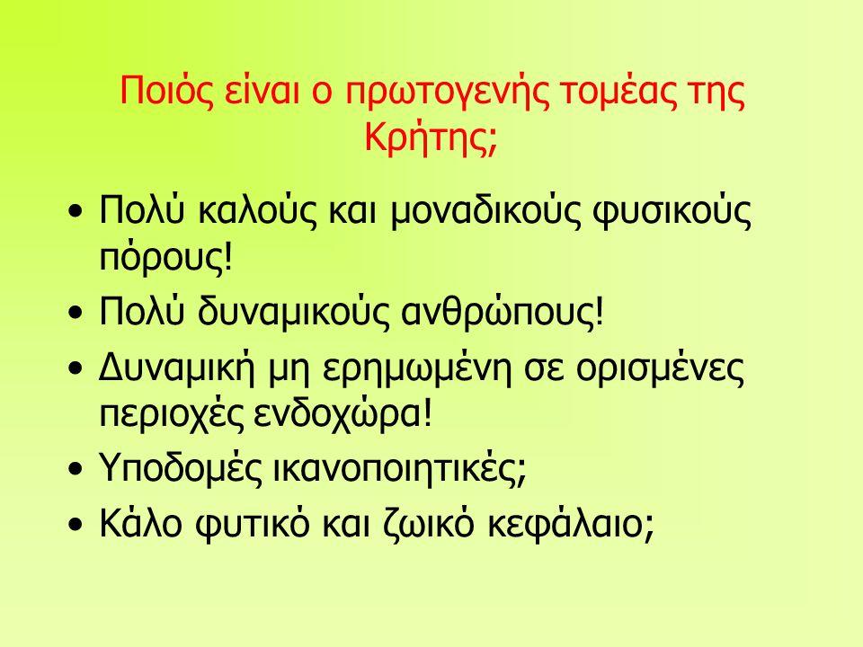 Ποιός είναι ο πρωτογενής τομέας της Κρήτης;