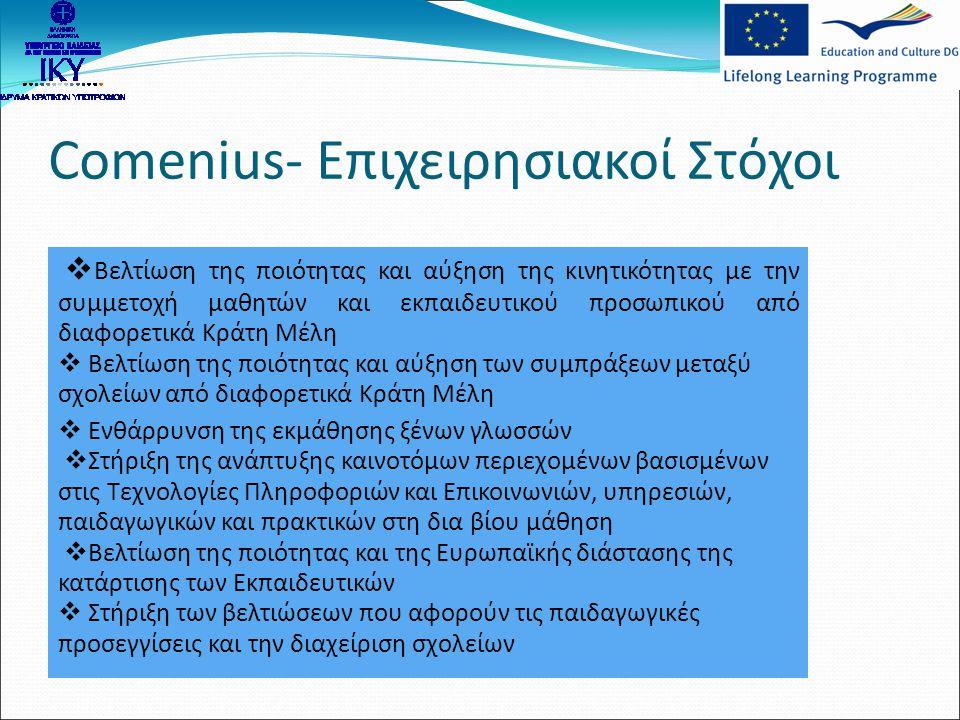 Comenius- Επιχειρησιακοί Στόχοι