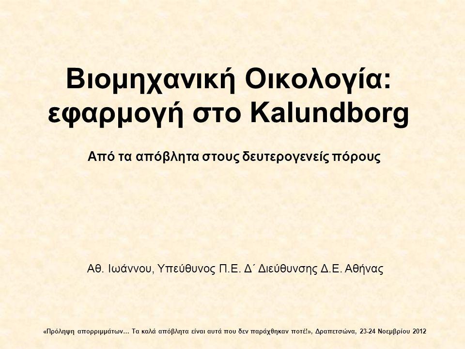 Βιομηχανική Οικολογία: εφαρμογή στο Kalundborg
