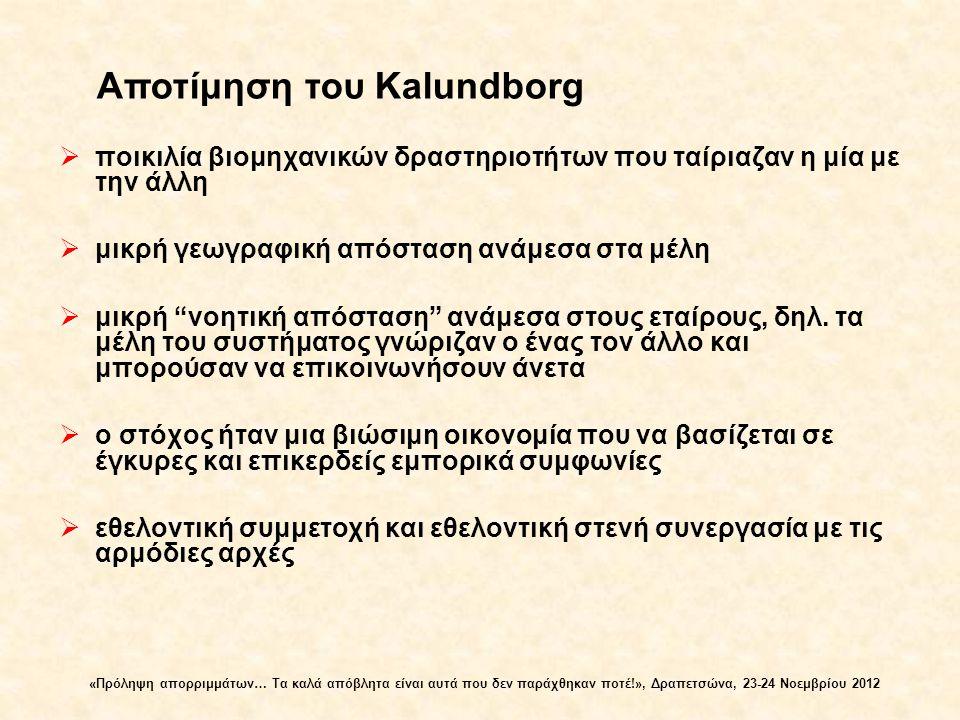 Αποτίμηση του Kalundborg