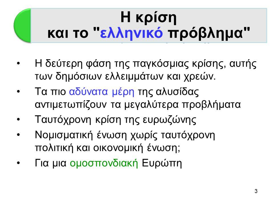 Η κρίση και το ελληνικό πρόβλημα