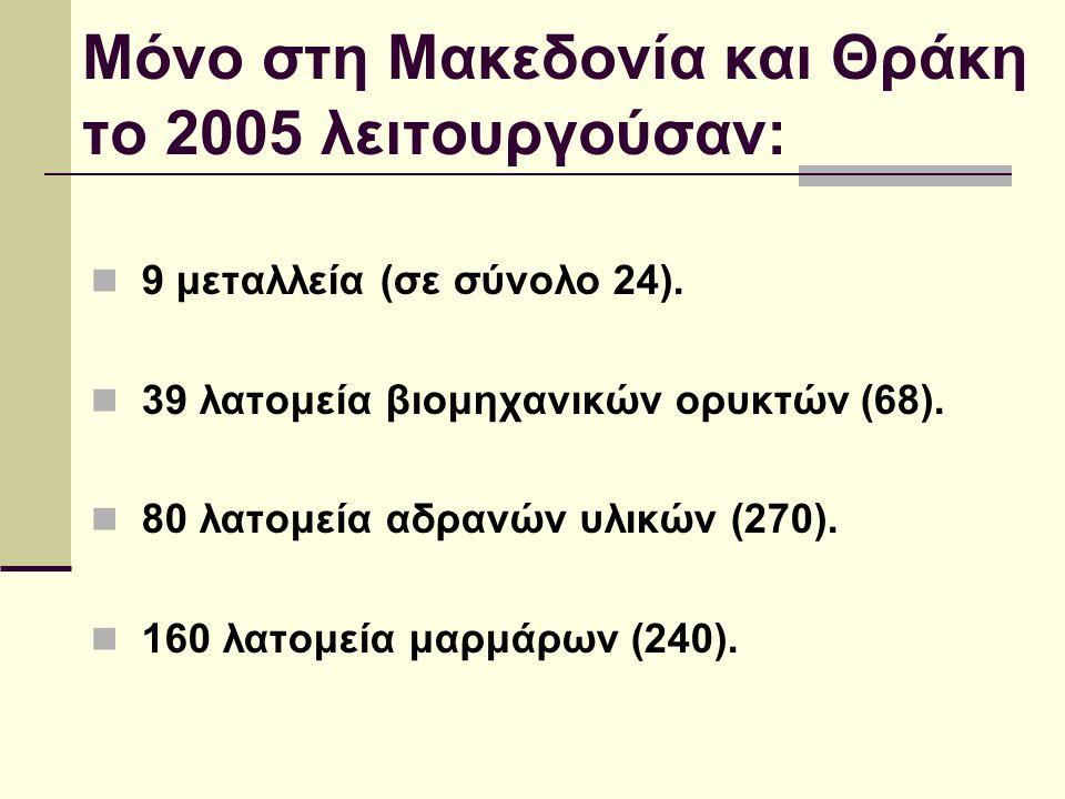 Μόνο στη Μακεδονία και Θράκη το 2005 λειτουργούσαν:
