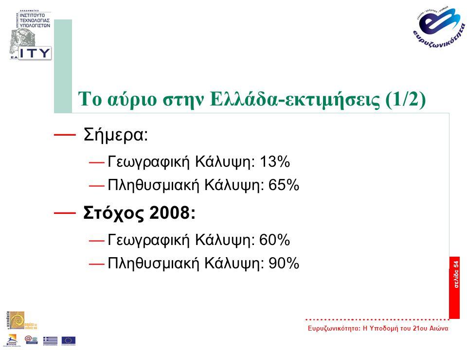 Το αύριο στην Ελλάδα-εκτιμήσεις (1/2)