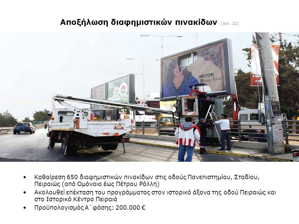 Αποξήλωση διαφημιστικών πινακίδων (σελ. 22)