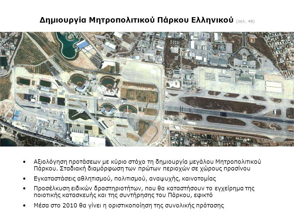 Δημιουργία Μητροπολιτικού Πάρκου Ελληνικού (σελ. 49)
