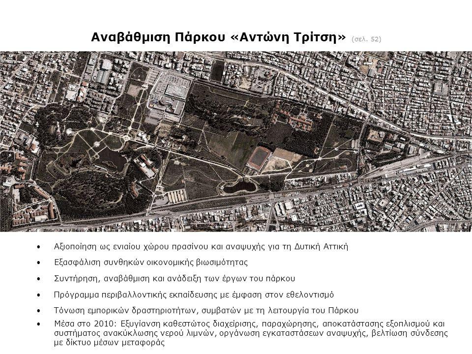 Αναβάθμιση Πάρκου «Αντώνη Τρίτση» (σελ. 52)