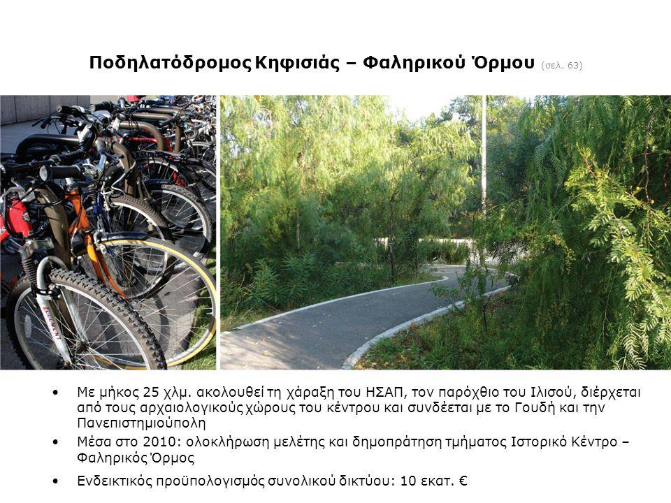 Ποδηλατόδρομος Κηφισιάς – Φαληρικού Όρμου (σελ. 63)