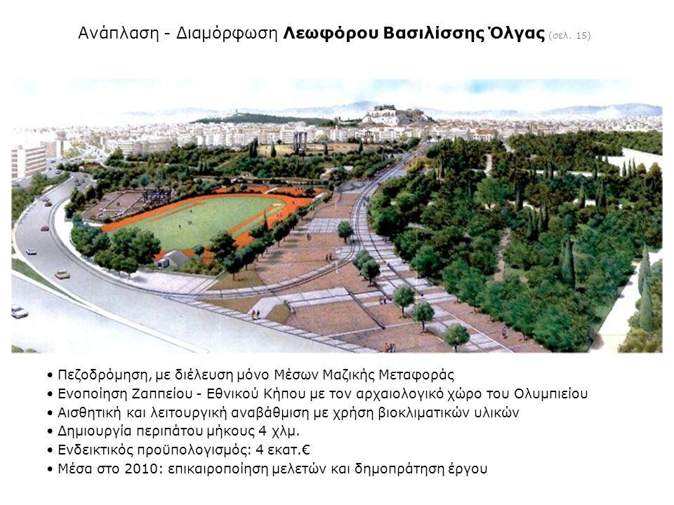 Ανάπλαση - Διαμόρφωση Λεωφόρου Βασιλίσσης Όλγας (σελ. 15)