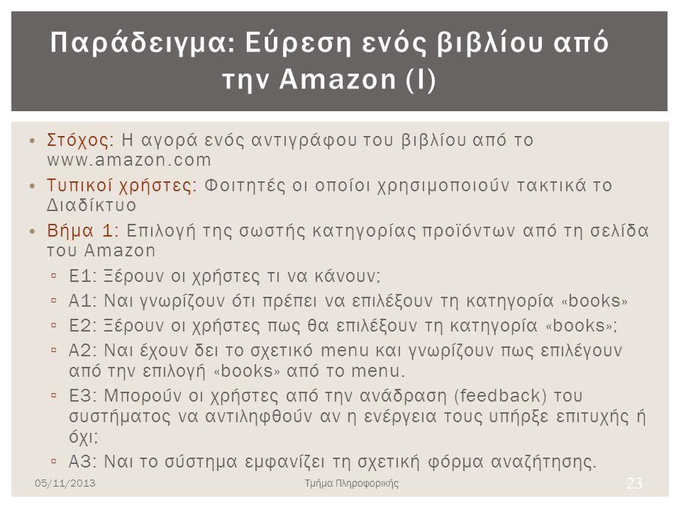 Παράδειγμα: Εύρεση ενός βιβλίου από την Amazon (Ι)