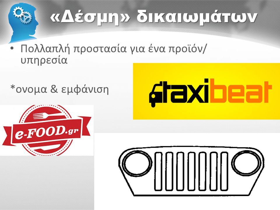 «Δέσμη» δικαιωμάτων Πολλαπλή προστασία για ένα προϊόν/ υπηρεσία
