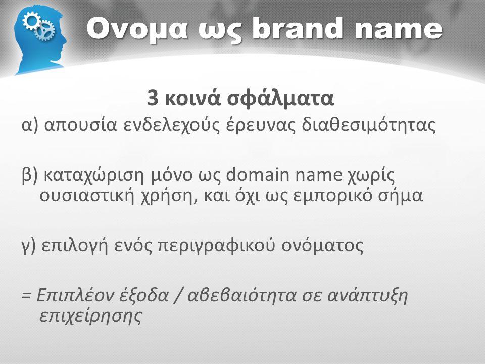 Ονομα ως brand name 3 κοινά σφάλματα