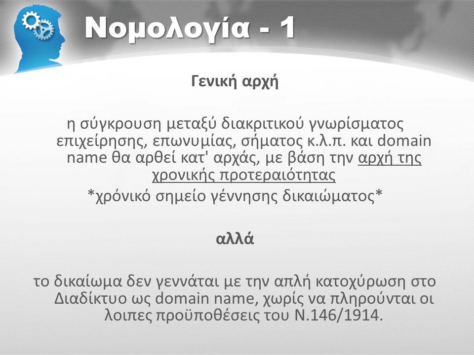 Νομολογία - 1