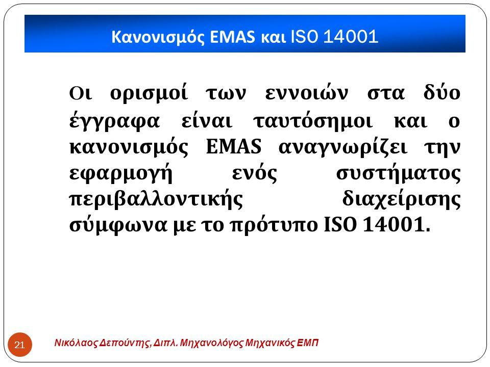 Κανονισμός EMAS και ISO 14001