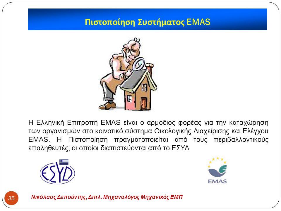 Πιστοποίηση Συστήματος EMAS
