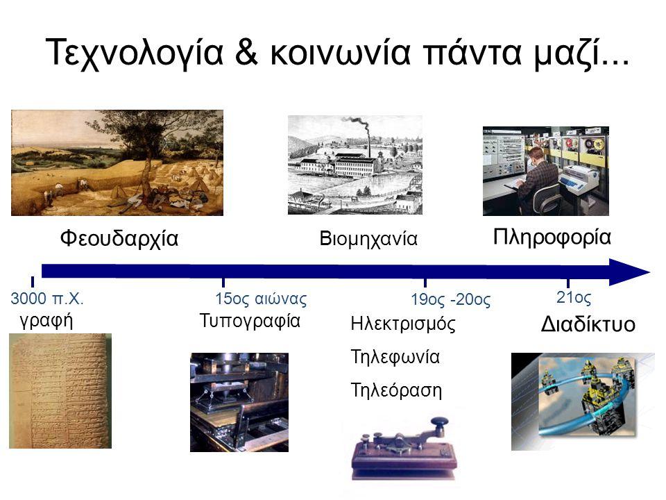 Τεχνολογία & κοινωνία πάντα μαζί...