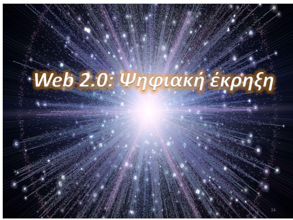 Web 2.0: Ψηφιακή έκρηξη