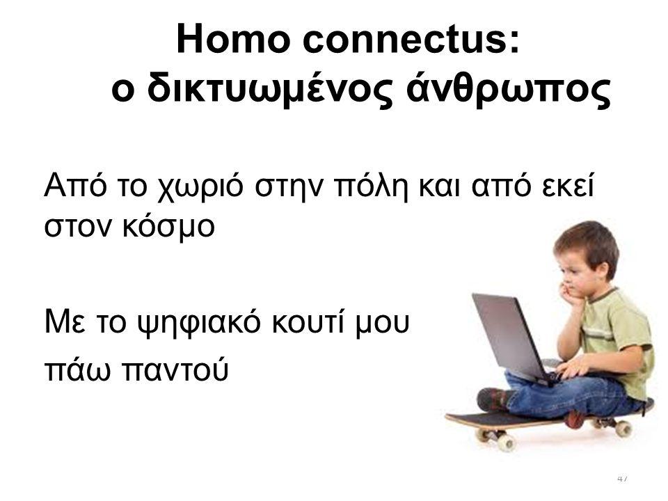 Homo connectus: ο δικτυωμένος άνθρωπος