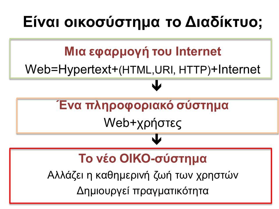 Είναι οικοσύστημα το Διαδίκτυο;