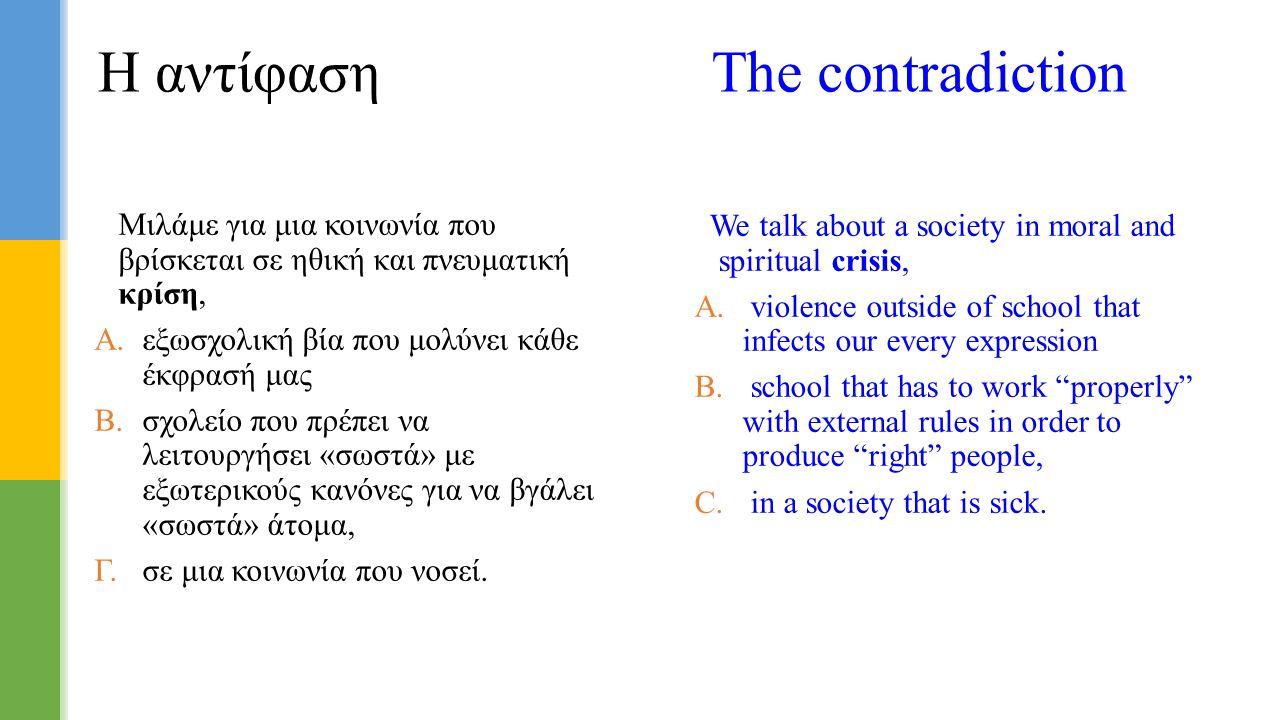 Η αντίφαση The contradiction
