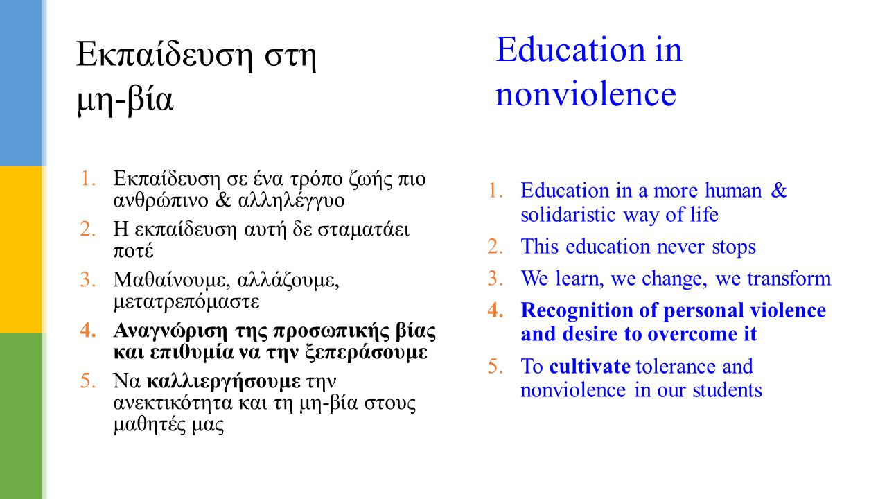 Education in nonviolence